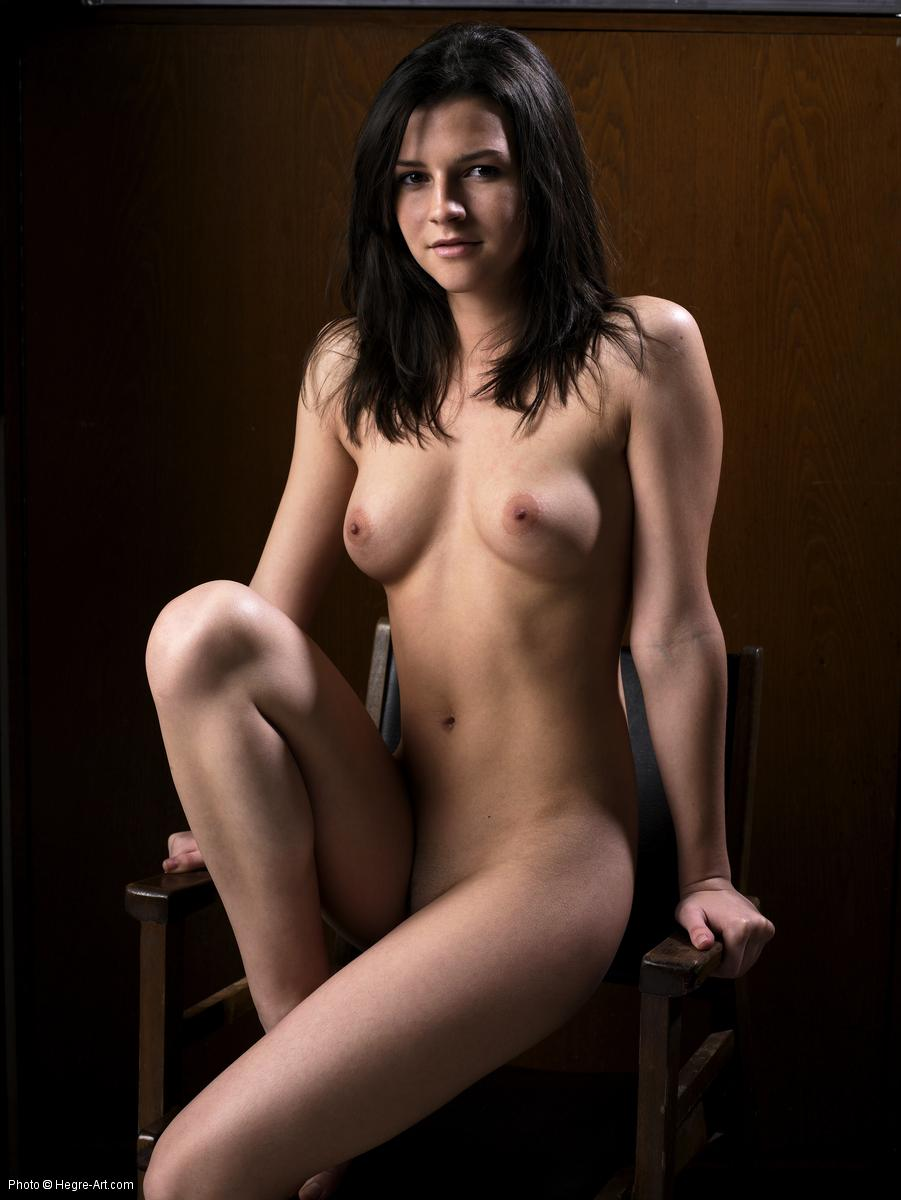 18 yo czech model ivette fully naked on chair showing her soft curves